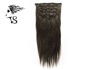 Black Long Virgin Remy Clip In Hair Extensions, Mongolian Straight Hair Extensions