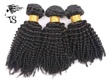 "Kinky Curly Virgin Brazilian Hair Extensions Natural Black 8 ""-32"" Długość włosów"