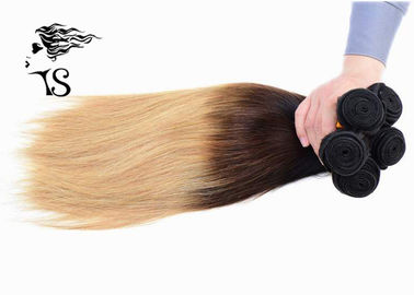 8A Silky Straight Long Ombre Human Hair Extensions z Black Brown Blonde 3 Color